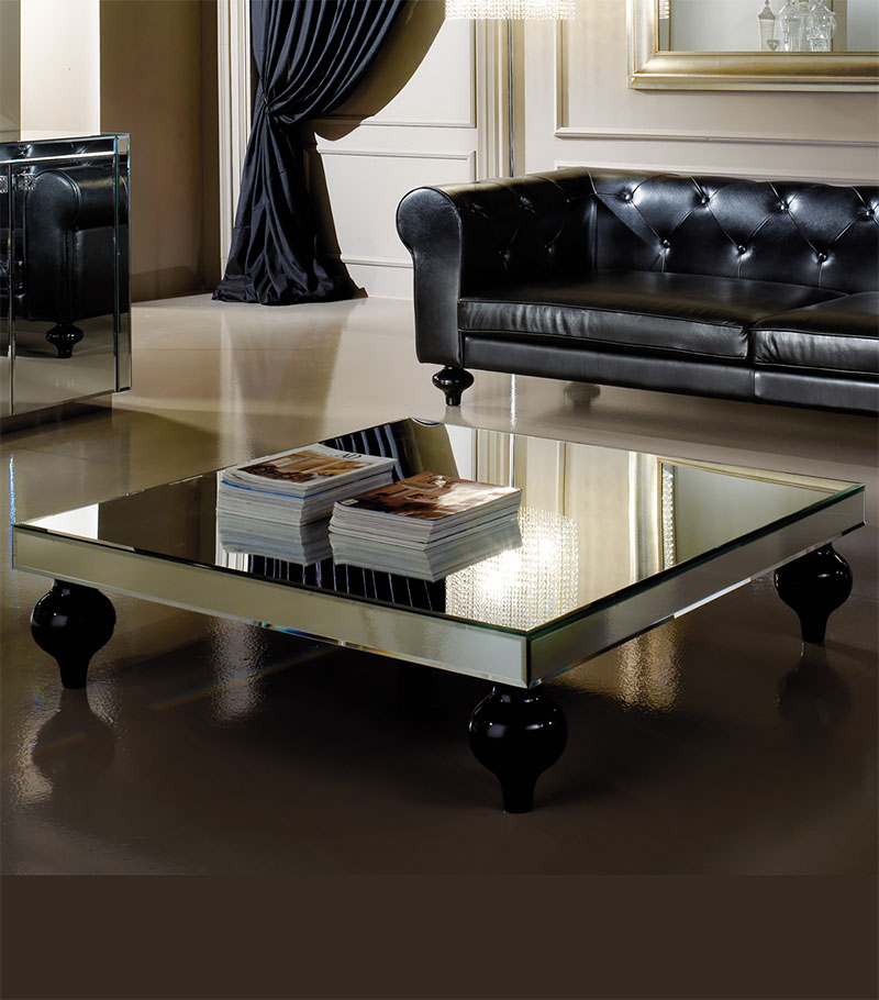 Pious Square Mirrored Coffee Table